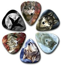 6 WOLVES ~ Guitar Picks ~ Plectrums ~ Plectra ~ Printed Both Sides