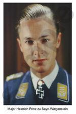 aviation art luftwaffe photo postcard Nachtjagd Heinrich zu Sayn Wittgenstein