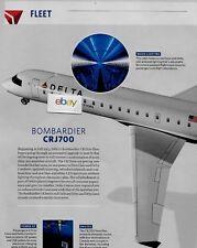 DELTA AIR LINES CRJ 700 DELTA CONNECTION JET 2 PG FLEET ARTICLE & DRAWING