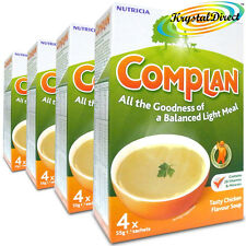 4x Complan Chicken Nutrition Vitamin Rich Supplement Protein Energy Soup 4x55g
