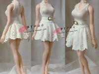 1/6 phicen Female Bubble Skirt Clothes Set White Dress fit 12'' JIAOU TBL Figure