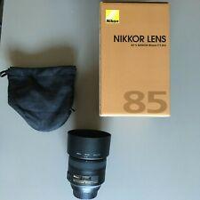 Nikon AF-S NIKKOR 85mm f/1.8g Full Frame pieno formato DG obiettivo come nuovo 1:1,8