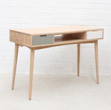 Retro Kiruna Scandi Design Natural Timber Wood Console Table 2 Drawers