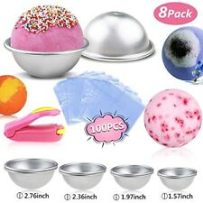 Diy Bath Bomb Kit Mold For Kids Adults 4 Size 100 Pcs Wrap Bags Mini Sealer New