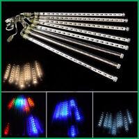 30cm LED Meteor Light Snow Rain Shower 8 Tube Chain Light Christmas Decor RK989