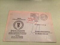 Germany Come and see Berlin 1960 slogan  stamps cover ref 50555