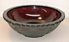 Avon Ruby Red 1876 Cape Cod Collection Vegetable Serving Bowl 8.5""