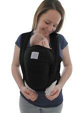 Babytragetuch mit Vordertasche Baby Trage-Tasche und Anleitung Tragetuch schwarz