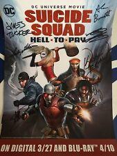 Suicide Squad cast signed auto 2018 Wondercon poster Greg Grunberg Liam McIntyre