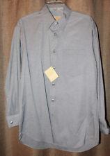 Men's Stubbs Western Wear Long Sleeve Shirt NWT Gray Black Metal Buttons Size L