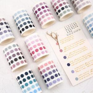 Adhesive Dot Masking Washi Tape Diy Scrapbooking Sticker Label Stationery CB