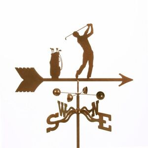 Male Golfer - Golf Weathervane - Golfing Weather Vane with Choice of Mount