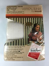 Vintage Adjustable Vanes Vertical cloth fabric Blinds By Newell 12 X 84 USA 3M