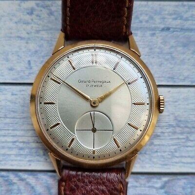 Vintage Girard Perregaux 18K Solid Gold 37mm Men's Watch