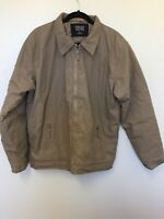 Tweed River brown jacket  quilted lining mens size XL