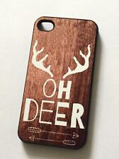 OH DEER Phone Case Compatible with iPhone ANTLER WOOD BACKROUND HUNT
