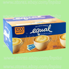 EQUAL 4 BOXES x 1000 (4,000) PACKETS NO CALORIE SWEETENER