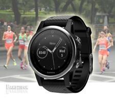 GARMIN Fenix 5S Watch Silver Black Band GPS HRM Sports Running Triathlon Golf