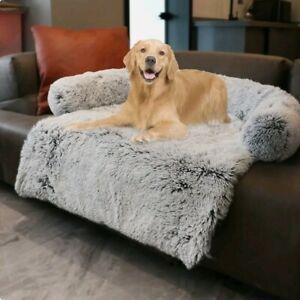 Dog Sofa Bed Cover Calming Plush Mat Removable Pet Blanket Mattress
