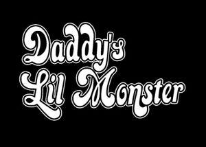 Harley Quinn 'Daddy's Lil Monster' Vinyl Sticker WHITE GLOSS 8 x 13.5 cm