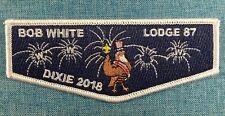 OA Lodge 87 Bob White Flap 2018 SR-5 Dixie Fellowship Delegte WHT Bdr. 2 per