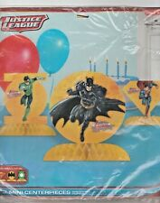 JUSTICE LEAGUE Batman Superman DC Comic Table Centerpiece Birthday Costume Party
