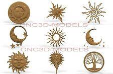3D Model STL for CNC Router Engraver Carving Artcam Aspire Decor Moon Tree 311
