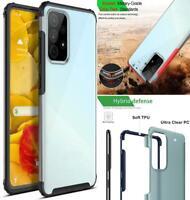 Per Samsung Galaxy A52 5G Custodia Sottile Armatura Trasparente Rigida Back Urto