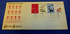 1977 First Day Of Issue Christmas Island Stamps Envelope 4 x 10 Cent Cover NMint