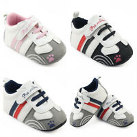 Newborn Baby Crib Shoes Infant Boy Girl Sneakers Toddler PreWalker Trainers 0-12