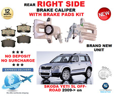 FOR SKODA YETI 5L OFF ROAD 2009->ON REAR AXLE RIGHT SIDE BRAKE CALIPER WITH PADS