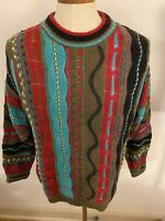 Vintage Kalaroo Australia Mercerized Cotton Sweater Mens L Retro 3D Cosby
