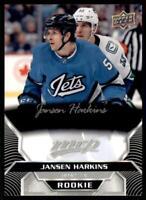 2020-21 UD MVP Silver Script - Rookies #220 Jansen Harkins RC - Winnipeg Jets