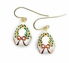 "Christmas Enameled Egg Dangle Earrings - Inspired by the famous ""Fabergé"" egg"