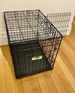 """Top Paw Pet Crate Double 24"""" Double Door Folding Metal Dog Crate"""