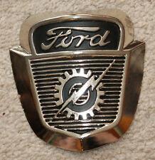 Vintage Style FORD Lightning Logo Emblem Chrome Metal Garage Shop MAN CAVE SIGNS