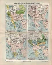 Landkarte map 1897: Karte zur Geschichte der Europäischen Türkei.