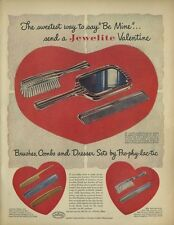 1948 Pro-Phy-Lac-Tic PRINT AD Jewelite Brushes, Combs, Dresser Sets, great decor