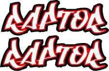 Raptor 350 600 660 700 Red Rear Fender Graphics Decals Stickers ATV QUAD Yamaha