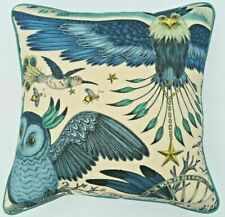 Emma J Shipley FRONTIER BLUE cushion FREE FEATHER PAD 41cm x 41cm