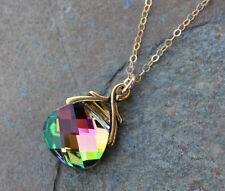 Northern Lights Crystal Gold Necklace -Swarovski crystal - 14k gold filled chain