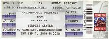 TOOL 9/7/2006 10,000 Days Tour Concert Ticket!! Los Angeles,CA 2006 #2 STAPLES