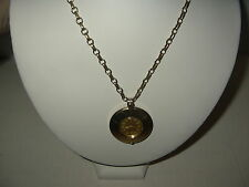 Vintage CARAVELLE Swiss Ladies Goldtone Wind Up Watch Pendant Necklace