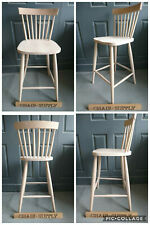 Solid Raw Wood Brand New Nordic Scandinavian Modern Kitchen Bar Stool Chair