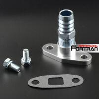 """Turbo Oil Drain Flange Kit Fit HT18 K24 K26 K27 HX35 HX40 19mm 3/4"""" Barb"""