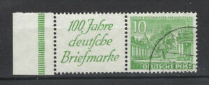 Berlin ZDR W 9 mit Rand - gestempelt - (GM423)