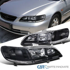 Fit 1998-2002 Honda Accord LX EX V6 Head Lights JDM Black Driving Head Lamps