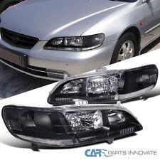 Fit 1998-2002 Honda Accord LX EX V6 Head Lights JDM Black Driving Head Lamps