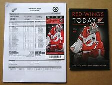 Detroit Red Wings Jimmy Howard Ticket, Game Program & Game Notes 11-12-2013
