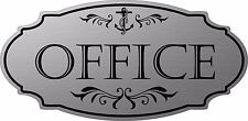 "Stainless Steel color ""Office"" Nautical Door Sign - Free Shipping"